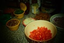 The process. Vegan colors.