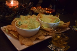 The best vegan appetizer ever. Artichoke and spinach dip. (Yes, we also had whiskey)